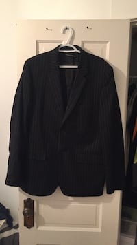 Men's size 42 black with white stripe jacket