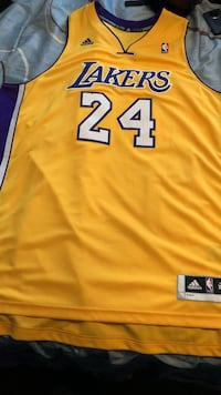 Yellow, white, and purple adidas lakers 24 jersey Indianapolis, 46208