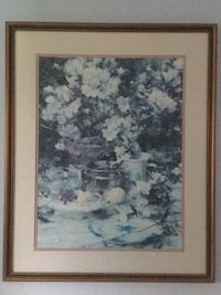 Blue flower picture. 27x32.5 Welland, L3C