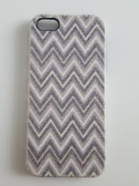 grå og hvit Chevron iPhone-etui Loten
