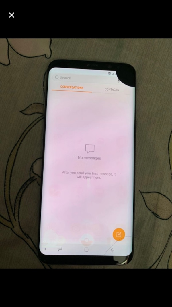 White samsung S8+64gb phone with dot