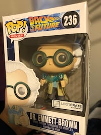Dr Emmet Brown Pop figure Ashburn, 20147