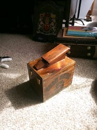 vintage antique shoe shine box