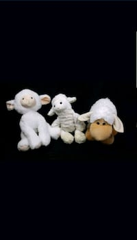 3 white stuffed animals Toys Lot Dallas, 75244