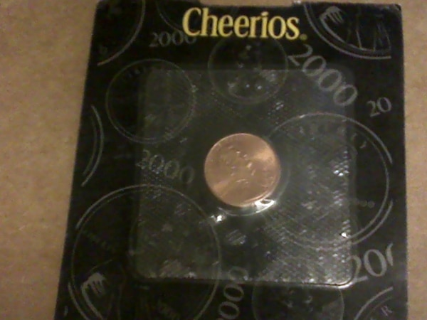 2000 Cheerios Penny Sealed + Certificate of Authenticity Millennium Lincoln