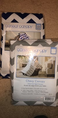 Car seat canopy for infants - 2 colors - grey & white and navy blue & white Aldie, 20105