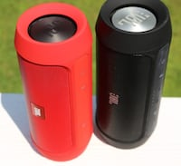 two red and black portable speakers Burnaby