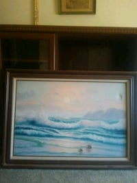 blue and white abstract painting Prineville, 97754
