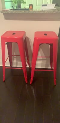 Two red bar stools Washington, 20037