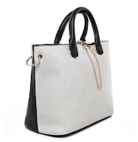 women's white and black leather tote bag Newcastle Upon Tyne, NE6 2EB