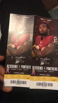 redskins  tickets  for (october 14 2018) Game. Lanham, 20706