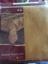 60x84 Oblong tablecloth for $8.50 If you are going to buy it answer this ad. Thank you . Frederica, 19962