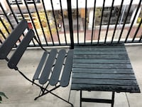 Black and brown wooden rocking chair