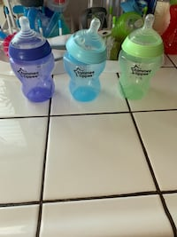 Baby bottles and cleaner