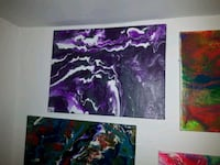purple and black abstract painting Edmonton, T5B 3H7
