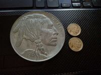 1913 RARE INDIAN HEAD COIN, TWO MORE... Philadelphia, 19140