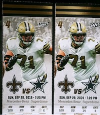 SAINTS V COWBOYS TICKETS New Orleans, 70113