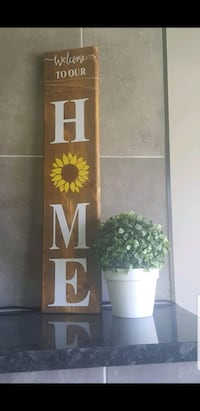 2 foot HOME sign with paw or sunflower