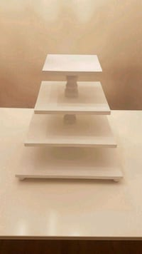 Wooden Cake Stand White 4 levels