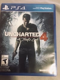 Uncharted 4: PS4 game case 549 km