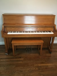 brown upright piano Reading, 01867