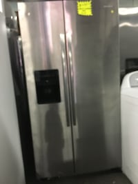 New scratch and dent Amana stainless steel side by side doors fridge  Baltimore, 21223