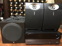 Speakers/subwoofer/receiver  Everything for $280 Toronto, M9W 4R9