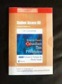 Byrd and Chen's Canadian Tax Principles Student Access Kit