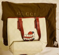 Gucci red and white leather crossbody bag Alexandria, 22314