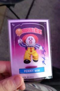 Garbage pail kids (horrible kids) autographed pennywise card