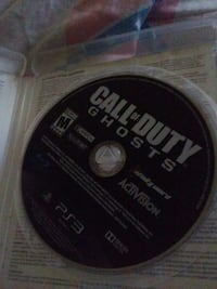 Call of Duty ghosts PS3 game disc Richmond, 40475
