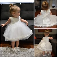Boutique closing sale. Top selling baptism, flower girl, first birthday dress for only $40! Comes in sizes 3 months - 24 months. Shoes and headband sold separately.