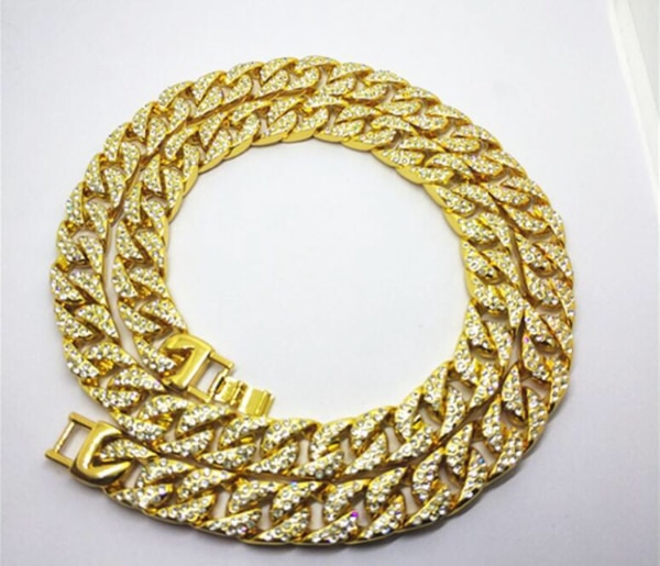Gold Chains For Sale >> Iced Out Cuban Gold Chain