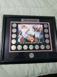 Budweiser coin set framed