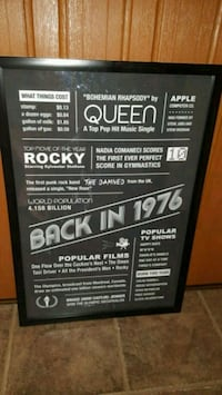 Born in'76? 1976 Historical Events Framed Poster  Portland, 97220