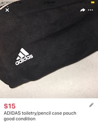 ADIDAS toiletry/pencil case pouch good condition