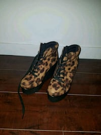 High heeled cheetah print shoes 1817 mi