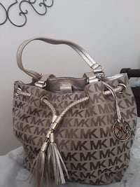 gray Michael Kors leather tote bag WASHINGTON