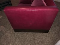 100% Suede, Red Leather, Real Heavy Wood 2 seat couch Atlanta, 30341