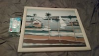 framed painting of white sailboats Foley, 36535