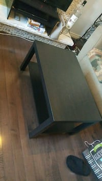 rectangular black wooden coffee table Mississauga, L4X 0A1