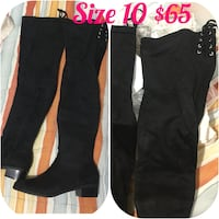 Size 10 black knee high boots