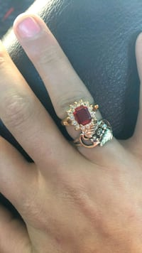 24k gold Diamond ring with red diamond!!! Also 24k gold ring with diam Oklahoma City, 73104