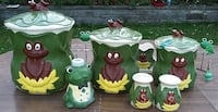 Vintage Sugar / Flour / Cookie Jars Milton
