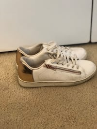 White and rose gold sneakers 7.5