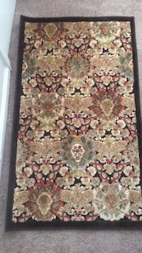 brown and pink floral area rug Manassas, 20110