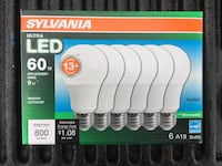 Normally $22 Dimmable LED 60 Watt bukbs Lincoln