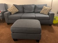 MUST GO!!!! We are moving out of state and not taking these with us. Must go!!!!!  3 piece couch set Couch  Love seat Ottoman +4 decorative pillows $350 (OBO) no lowball offers—serious inquiries only Must pick up in Santa Fe Springs (no delivery)  Smoke f Santa Fe Springs, 90607