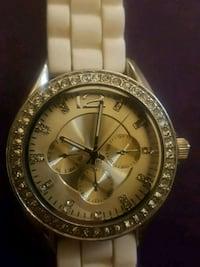 round silver-colored Rolex analog watch with link  London, N5Z 1R4
