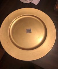 """8 Gold Plate Servers Tiger Chef Round Melamine Gold 13"""" Charger Plate Bryans Road, 20616"""